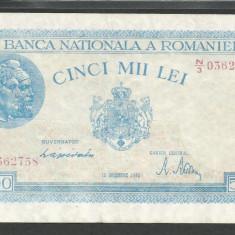 ROMANIA 5.000 5000 LEI 15 DECEMBRIE 1944 [4] P-55, XF - Bancnota romaneasca