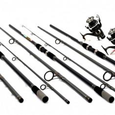 Set 3 lansete Cool Angel 3, 9m cu 3 mulinete MIFIN FAST6000 longcast 7rulmenti - Set pescuit