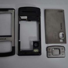 Nokia 6500 slide Carcasa Originala 4 Piese Swap - Argintie