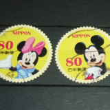 Lot 2 timbre circulate DISNEY Mickey Mouse Minnie JAPONIA 2+1 gratis RBK20723 - Timbre straine, Stampilat