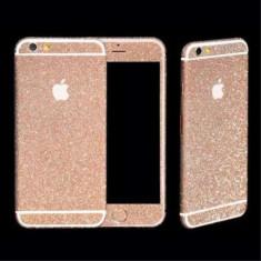 Sticker iPhone 6 Stralucitor Acoperire Completa Roz Apple