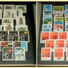 Clasor cu 390 etichete chibrituri straine, serii complete