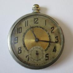 Ceas elvetian de buzunar cu 15 Rubine si 3 Adj.din anii 20