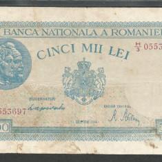 ROMANIA 5.000 5000 LEI 15 DECEMBRIE 1944 [10] P-55 - Bancnota romaneasca