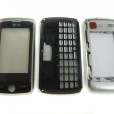 LG GW520 Carcasa Originala TOUCH SCREEN 3 Piese Swap Argintie