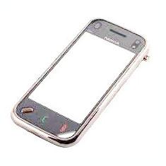 Carcasa Fata Cu TouchScreen Nokia N97 mini Originala Swap Gri Inchis-Negru
