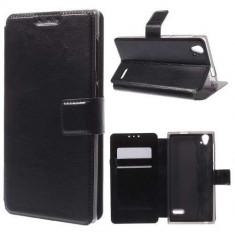 Husa Flip Cu Stand ZTE Blade Vec 4G Piele PU Neagra - Husa Telefon