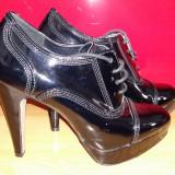 Pantofi - Pantof dama, Culoare: Negru, Marime: 38, Cu toc