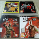Pachet 4 jocuri WWE12, WWE 13, WWE 2k14, WWE 2k15, PS3, originale!