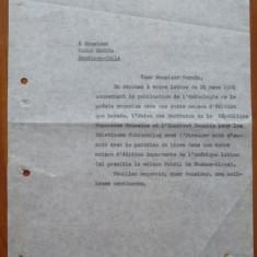 Scrisoare a lui Zaharia Stancu catre Pablo Neruda si raspunsul - Autograf