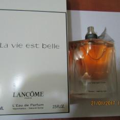 PARFUM TESTER LANCOME LA VIE EST BELLE --75 ML -SUPER PRET, SUPER CALITATE! - Parfum femeie Lancome, Apa de parfum