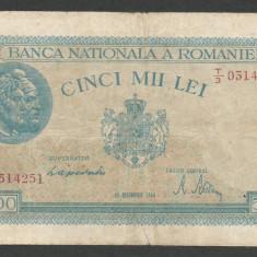 ROMANIA 5.000 5000 LEI 15 DECEMBRIE 1944 [8] P-55 - Bancnota romaneasca