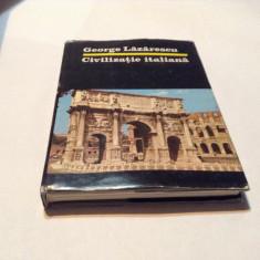 George Lazarescu - CIVILIZATIE ITALIANA ,RF10/2