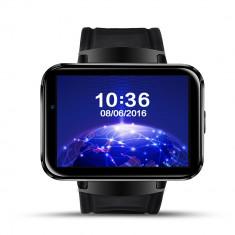 Smartwatch aipker dm89-ceas 3g-wifi-gps-cartela SIM-baterie 900 mA-black, Otel inoxidabil, Negru, Android Wear