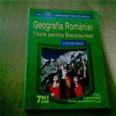 GEOGRAFIA ROMANIEI TESTE PENTRU BACALAUREAT -LUMINITA MARIN - Teste Bacalaureat