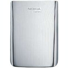 Capac Baterie Spate Nokia E72 Original Swap Argintiu