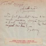 1925 Hartie cu antet Libraria Nationala Marin T. Dimitriu din Husi, semnatura