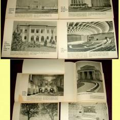 1963 Constructii social-culturale in RPR, afise pentru aviziere, afisaj vitrine