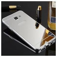 Bumper aluminiu cu spate acril tip oglinda Samsung Galaxy a5 2016, silver - Bumper Telefon, Argintiu
