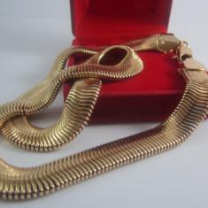 Lant dama dublu placat aur 18k model deosebit cod LCF16 - Lantisor placate cu aur, Femei