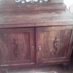 Sufragerie veche 100ani, lemn masiv, 12 piese - Set mobila living