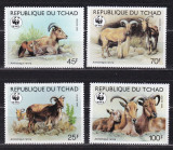 Ciad  1988  fauna  WWF   MI  1171-74   MNH  w40, Nestampilat
