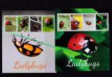 Gambia  2014  fauna  insecte  buburuze  2 kleib.+ 2 colite   MNH  w40, Nestampilat