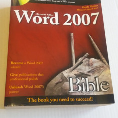 Microsoft Word 2007 Bible - Carte Microsoft Office