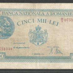 ROMANIA 5.000 5000 LEI 15 DECEMBRIE 1944 [9] P-55 - Bancnota romaneasca