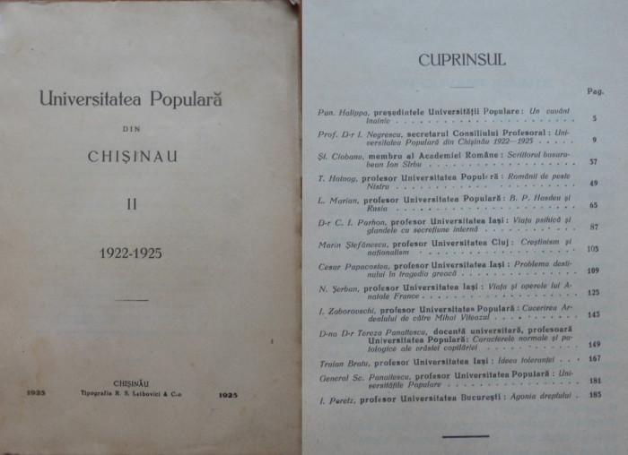 Universitatea Populara din Chisinau , 1922 - 1925 , Chisinau ...