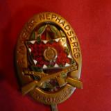 Insigna Merit pt.soldati Ungaria, metal si email, h= 4, 5 cm
