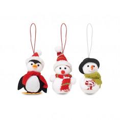 Set 3 decoratiuni de Craciun Snowies CDT-CX1411-00 - Lumanari de Craciun
