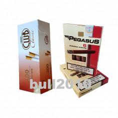 2 x tigari de foi Pegasus 110g tutun + tuburi, filtre Club Classic