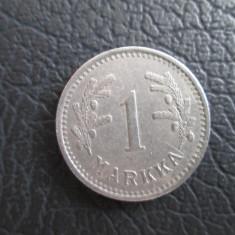 Finlanda . 1 markka . 1933, Europa, An: 1930, Cupru-Nichel