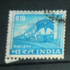 Timbru circulat vechi Istorie Tren Locomotiva INDIA 2+1 gratis RBK20907 - Timbre straine, Stampilat