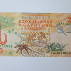 Cook Islands 20 Dollars 1992 UNC