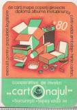 Bnk cld Calendar de buzunar Cartonajul 1980