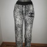 Pantaloni trening gri cu negru dama Chanel marime S+CADOU - Trening dama, Marime: S, Culoare: Din imagine