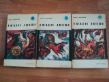 FRATII JDERI - MIHAIL SADOVEANU , 1966, 3 VOLUME  , COLECTIA CUTEZATORII