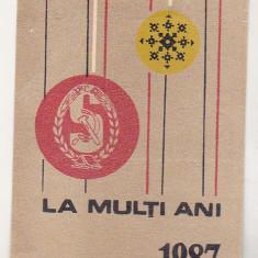 bnk cld Calendar de buzunar Scanteia 1987