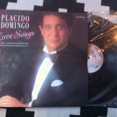 Placido domingo love songs album disc vinyl lp muzica clasica opera editie vest, VINIL