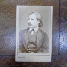 Carl Tausig, fotografie originala pe carton tip CDV - Harta Europei