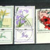 Lot 3 timbre circulate Natura Plante Flori ISRAEL 2+1 gratis RBK20923 - Timbre straine, Stampilat