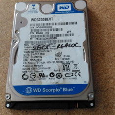 "HDD LAPTOP WESTERN DIGITAL S-ATA 2.5"" 320GB WD3200BEVT DEFECT, 300-499 GB, SATA, Western Digital"