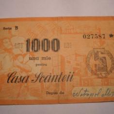 Casa Scanteii Valoare 1000 lei Seria B
