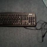 Tastatura Microsoft wired cu fir USB negru