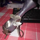 STICLA-METAL VECHE - Vaza sticla