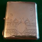 TABACHERA ( PORTTIGARET ) - argint cu rubin  - RUSIA 1920