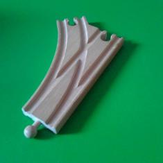 Sine de lemn / trenulete / Ikea - linie curba cu 2 iesiri - Jocuri Seturi constructie, Unisex