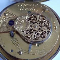 Ceas de buzunar din argint -anul 1863-verge fusee